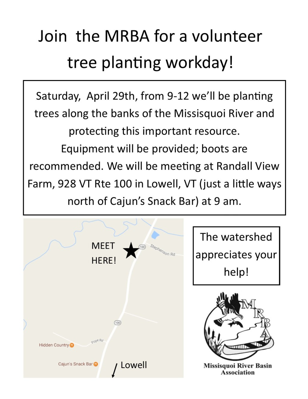 Tree Planting flyer April 29 Lowell
